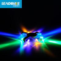 al por mayor advertencia de xenón de luz-Leadbike Magic Colorido Bicicleta Ciclismo Cubos Luz Bicicleta Frente / Cola Luz Led Rueda Rueda Advertencia Bicicleta Impermeable Accesorios