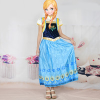adult surprise party - New Frozen Birthday Party Surprise Anna Cosplay Costume For Adult Princess Anna Cosplay Girl Dress Christmas Gift