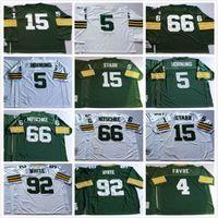 bart logo - Throwbac Paul Hornung Bart Starr reggie white RAY Nitschke sewing Team Logo jerseys Welcome to order M XXXL