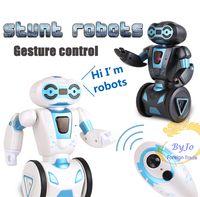 Wholesale Newest stunt robot Gesture control Intelligent robot Balance wheel Battle dance transport induction Remote control Electric toy for children