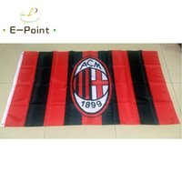 ac banner - Italy AC Milan ft cm cm Polyester Serie A flag Banner decoration flying home garden flag Festive gifts
