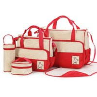 Wholesale Set Multifunctional Mummy Bags in Baby Diaper Bag Nappy Bag for Mommy Baby Storage Bag