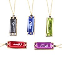 Wholesale New Fashion Pendant Mini Harmonica Hole Tone Necklace Harmonica Kids Gift Color Send At Random