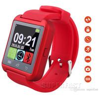 Bluetooth Smartwatch U8 regarder Smart Watch Montres-bracelets pour IPhone Note 2 / Note 3 Smartphones Téléphone Android avec forfait au détail