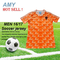 Wholesale DHL Retro Version European Cup Classic Vintage Netherlands home Soccer jersey best quality Three Musketeers Gulitefan Basten football