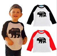 bear jumper - 2017 Babies Cotton Cartoon T shirts Kids Boys and Girls Letter Brother bear Jumper Shirts Children s Spring Fashion Clothing