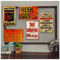 barn painting - Metal Tin signs Fresh Eggs Warning Shot Sign Plaque Barn or Man Cave Craft Wall Painting