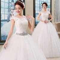 Wholesale quick DHL EMS epacket new Fashion cultivate one s morality show thin waist shoulder wedding dresses HS046