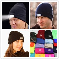 acrylic yarn colors - LED Light Knit Hats for women Unisex Sports Beanies Winter Warm Beanies Hat Skull Caps colors LA330