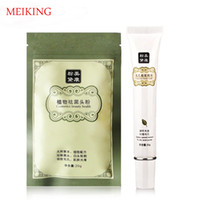Wholesale Brand Skin Beauty Care Set Chinese Herbal Plant Acne Blackhead Reomver Powder Nose Mask g Shrink Pores Essence Cream g