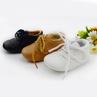 Wholesale Leather Baby Shoes First Walkers Anti slip Footwear Newborn Toddler Slip on Soft Shoes