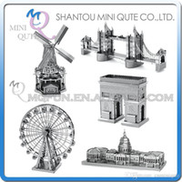 arch architecture - DHL Piece Fun D World architecture Arch of Triumph Ferris Wheel Dutch Windmill Metal Puzzle adult models educational toy