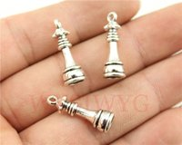 antique chess - WYSIWYG mm antique silver plated chess queen charms
