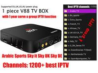 V88 TV Box RK3229 Quad-Core Android 5.1 OS 1300+ chaînes Sports arabes Sky it Sky Royaume-Uni 1300+ Europe IPTV KODI 4K vidéo Set top box