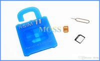 Wholesale RSIM11 unlock card R SIM r sim11 rsim unlock for iphone7 iPhone plus ios iOS7 x ios10 CDMA GSM WCDMA SB SPRINT G G