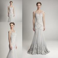 al power - Glamorous Hamda al Fahim Silver Mermaid Prom Dresses Luxury Lace Beaded Detail Sheer Neck Trumpet Evening Formal Gowns