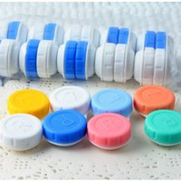 Wholesale Glasses Cosmetic Contact Lenses Box Contact Lens Case for Eyes Care Kit Holder Container