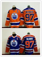 Cheap Cheap Hockey Jerseys Edmonton Oliers #97 Connor McDavid Jersey High Quality Stiched Blue Orange Free Shipping