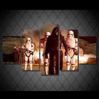 star wars cartoon pictures with best reviews - 5 Pcs Set Framed HD Printed Star Wars Movie Picture Wall Art Canvas Room Decor Poster Canvas Abstract Oil Painting