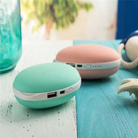 Single USB battery power heater - USB Electric Hand Warmer With Internal Battery Rechargeable Portable USB Heater Mango Modeling Colorful Power Bank Hand Warmer