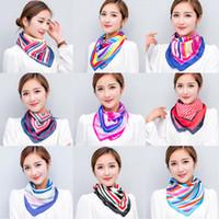 Wholesale NEW fashion womens ladies scarves scarf Silk Scarf kerchief mix colours cm cm Decoration Square kerchief one delivery