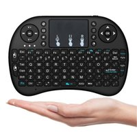 Télécommande pour tablette android France-Mini i8 Clavier sans fil 2.4GHz anglais Air Mouse Keyboard Touchpad Télécommande pour Android TV Box / Notebook / Tablet PC