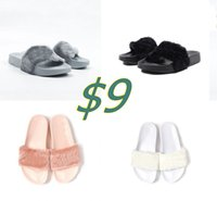 ballet slippers - Send With Original Boxes Leadcat Fenty Rihanna Shoes Indoor Women Slippers Indoor Sandals Girls Fashion Shoes Girl Scuffs Pink Black White