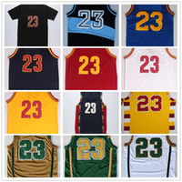 Wholesale Mens Jersey Basketball Jerseys Cheap Shirt James Uniform Team Color Red Blue White Yellow Black With Player Name