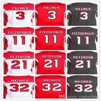 best patrick - Best quality jersey Men s Carson Palmer Larry Fitzgerald Patrick Peterson Tyrann Mathieu elite football jersey White Red Black