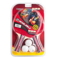 ball pong - Winmax Stars Table Tennis Set Long Short Handle Racket Ball Shake hand Ping Pong Paddle PingPong Rack
