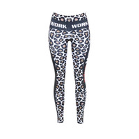 Wholesale Fashion digital printing leopard stripe Leggings Yoga Pants Patchwork Fitness Skinny Pants Slim Women Gym Leggings Push Up Sexy
