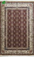 Wholesale 50 OFF YISI Chinese bedroom living room sitting room Handmade Persian Silk Carpet Rug at factory price red flowers European style