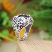 antique princess ring - Antique x13mm Princess Cabochon Semi Mount Ring Sterling Silver Art Nouveau Design Retro Engagement Wedding Ring
