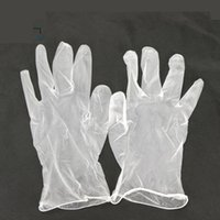 Wholesale PVC Unisex Household Gloves Experiment Cleaning Waterproof Transparent Disposable Gloves S M L With Box ZA1400