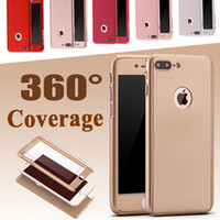 For Apple iPhone apple coverage - Full Cover Degree Coverage Hard PC Tempered Glass Protective Case Cover For iPhone S Plus inch Samsung S7 edge MOQ