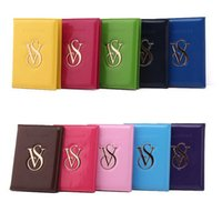 Wholesale VS Victoria Passport bag PU Leather pink secrets passports holder Wallet Pouch Cover Organizer Travel Credit Card ID Card Holders gifts