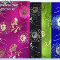 Joli vert Prix-Top grade Cravate verte vert africaine, Super Jubilee sego tête, tête, Nigéria Gele17 couleurs en vente joli motif fleur HGB14