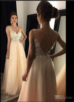 arrival knitted pieces - 2016 Sexy Beaded Tulle Backless Sheer Prom Dresses Floor Length Crystal Ruched Formal Evening Party Gowns New Arrival