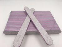 Wholesale 25PCS Grey Curve File Buffing Buffer Sandpaper Round Shape Salon Care Nail Art Manicure Tools