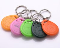 Wholesale Direct selling ID Keychain attendance buckle Carmen ban buckle card TK4100 chip stable quality produce various shapes of special shaped