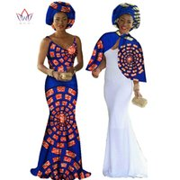 Bodycon Dresses africa wax - Cape Braces Dress Set Private Custom Party Dresses Africa Wax Evening Dress Unique Original Cape Braces Dress Set WY140