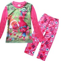 Wholesale 2017 fashion baby kids Trolls Personalized Girl Pajama for ages years old