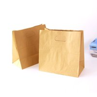 bags bread - 100pcs cm Blank Kraft Paper Bags Sandwich Bread Food Takeout Bags Wedding Party Favour Gift Bags