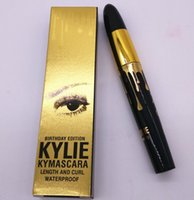Wholesale New style Kylie Jenner Birthday Edition Kylie Mascara Black Waterproof KYLINER KYMASCARA with Gold Package