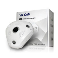 Wholesale 360degree Panoramic Camera P VR WiFi Fisheye Lens MP D Infrared IP Camera Security Wireless Night Vision CCTV Surveillance Cam