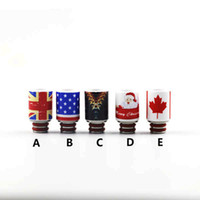 Wholesale Ceramic vape mods drip tip unique drip tips uk us Canada flag Merry Christmas Decoration Gift from China Supplier