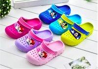 Wholesale 2017 Hot Colors Unisex Boy Girls Bby Mouse Animal Cartoon Shoes Summer Sandals Clogs