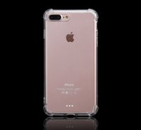 Wholesale For iPhone7 High Clear Thick TPU Anti knock Transparent Air Sax Corner Protection Case For iPhone S SE S Plus