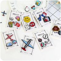 air plane food - Unique Acrylic Brooches Cartoon Cute Food Air Plane Animal Collar Pins Badge Women Bag Cloth Brooches Harajuku Monster Queer Badge Jewelry