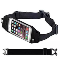 bags entertainment - Running Belt Waist Pack Reflective Transparent Touch Screen for Mobile Phone Unisex Gym Bags Running Waist Belt Sports Entertainment Acces